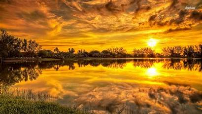 Wallpapers Sunset Water Reflection 1366 768 4k