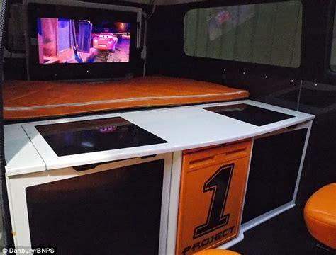 Pimp my VW campervan: van boasts flatscreen TVs, three