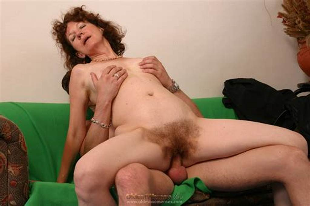 #Skinny #Hairy #Old #Woman #Rides #A #Long #Young #Cock
