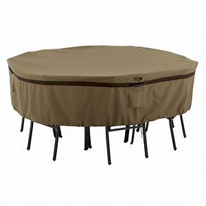 classic accessories hickory medium round patio table and With outdoor furniture covers classic accessories