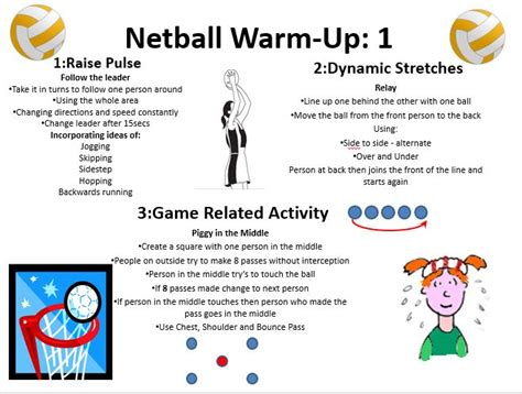 Warm Up - Netball, Year 8, Mixed Ability.