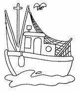 Coloring Fishing Boat Clipart Popular Library sketch template