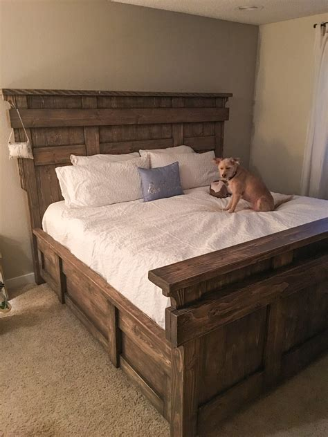 diy king size bed  plans shanty  chic
