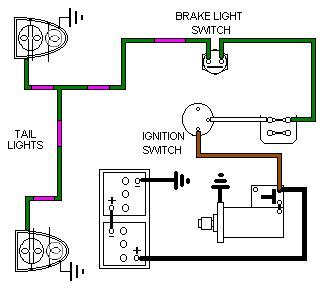Automobile Wiring Diagram Light Switch by Brake Lights