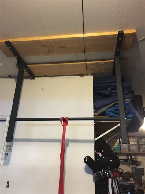install pull up bar in garage garage ceiling mounted pull up bar stud bar ceiling or