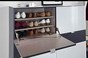 Meuble Chaussure Gris : d couvrir les meubles chaussures en 50 photos ~ Teatrodelosmanantiales.com Idées de Décoration