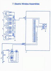 Fiat X1-9 1981 Electric Window Electrical Circuit Wiring Diagram