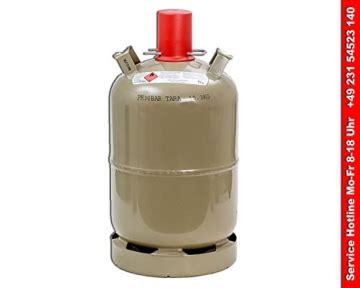 gasflasche 11 kg kaufen propangasflasche aus stahl 11kg f 252 llgewicht leer braun
