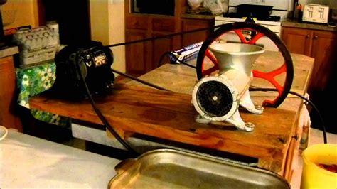kitchener  meat grinder   belt pulley grinding