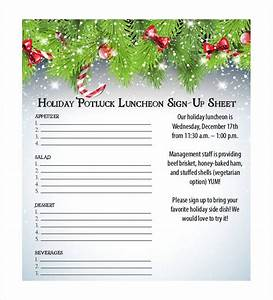 Holiday Potluck Signup Sheet Template Https Images Template Net Wp Content Uploads 2015 03