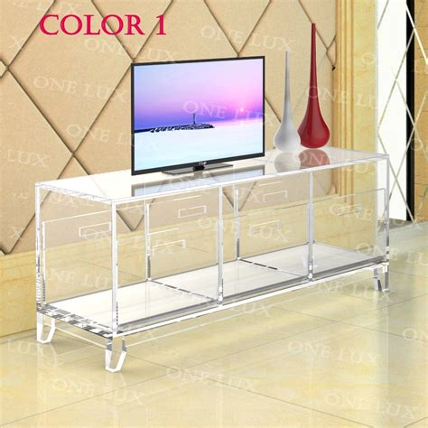 acrylic tv stand tableluite cabinet  removable trays