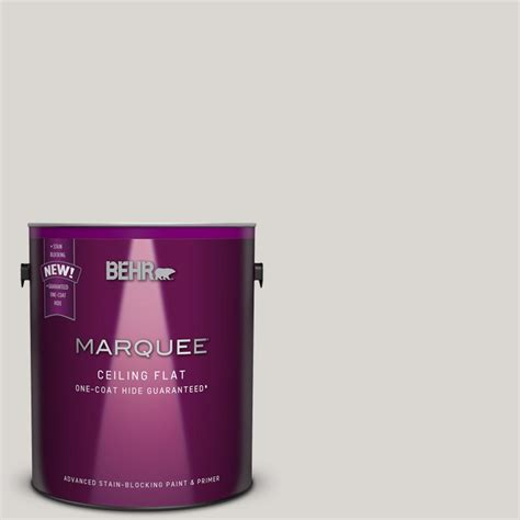 behr marquee 1 gal flat interior ceiling paint and primer in one 145801 the home depot