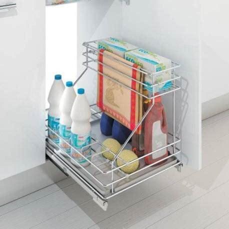 tiroir de cuisine en kit panier coulissant aménagement sous évier accessoires de