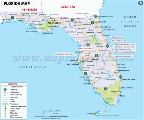 florida map map  florida fl state usa