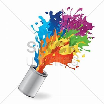 Paint Vector Splash Bucket Colors Splashes Graphic