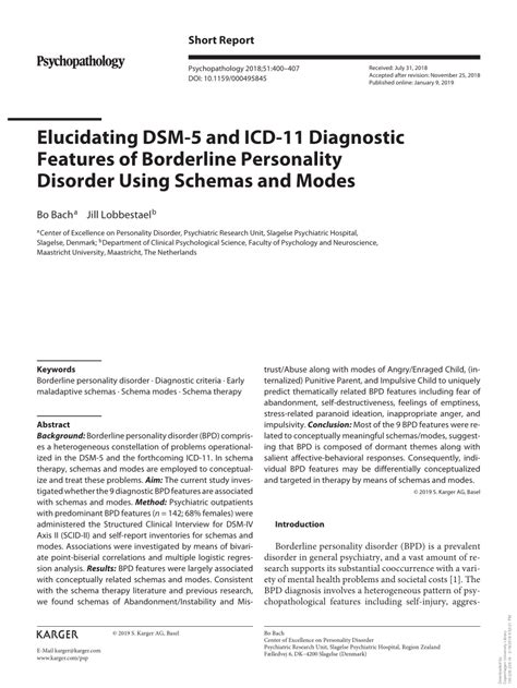 elucidating dsm   icd  diagnostic features