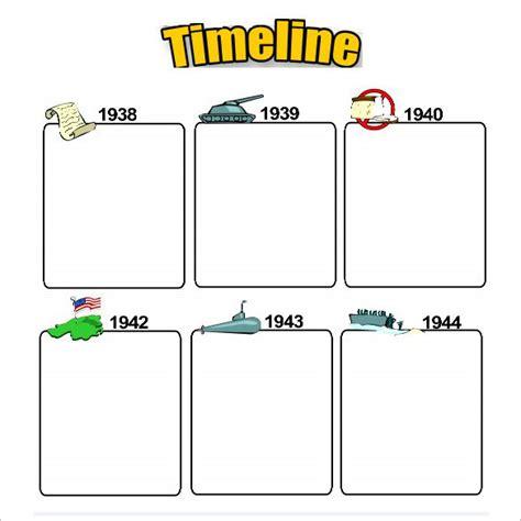 sample timeline templates  students