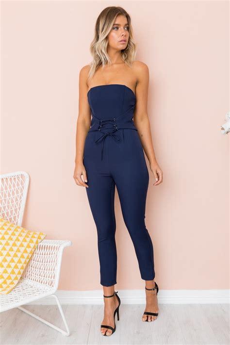 jumpsuit a19549no e blue concrete jumpsuit navy jumpsuits one shop new
