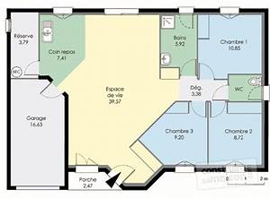 maison plain pied detail du plan de maison plain pied With faire un plan de maison 1 pavillon classique detail du plan de pavillon classique