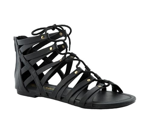 women lace   zipper strappy cage gladiator ankle