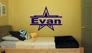 Wall decal dallas cowboys wall decals for kids rooms for Dallas cowboys wall decals for kids rooms