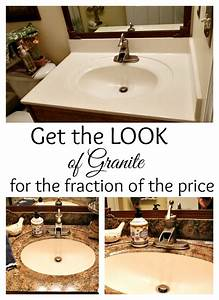 How To Paint Your Countertops To Look Like Granite For A