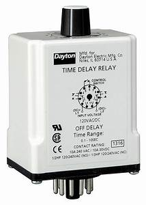 Dayton Single Function Timing Relay  12vdc  10a   240v  11