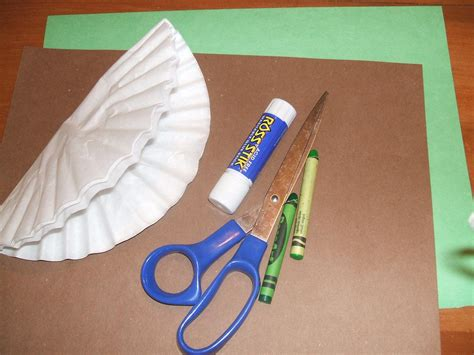 simple crafts preparing your child for preschool easy craft project make a tree picture with coffee filters
