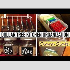 Dollar Tree Organizing  Kitchen ☆  Youtube