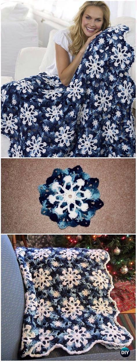 crochet christmas blanket  patterns tutorials