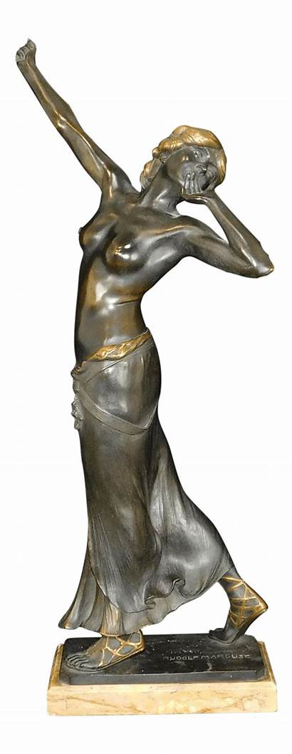 Nouveau Relief Sculpture Bronze Salome Sculptures Gladenbeck
