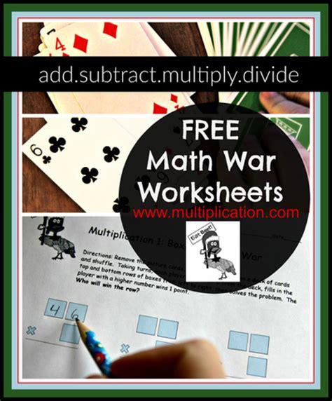 holiday math war worksheets