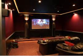 Home Theater Designs by Home Movie Theater With Molding And Indirect Lighting Home Movie Theater Ide