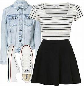 Skirt and converse if itu0026#39;s not too cold | teen fashion | Pinterest | Converse Clothes and Denim ...