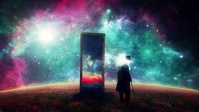 Dream Surrealism Space Surreal Galaxy Mirror Wallpapers