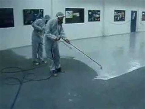 S R Epoxy Floor coating Spray application   YouTube
