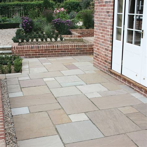global sandstone gardenstone sunset blend paving slabs