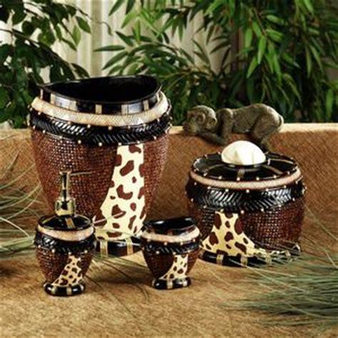 animal print bath accessories set  home