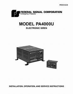 Federal Signal Pa640 Wiring Diagram