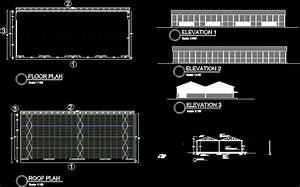 Clinker Storage Shed Dwg Block For Autocad  U2013 Designs Cad