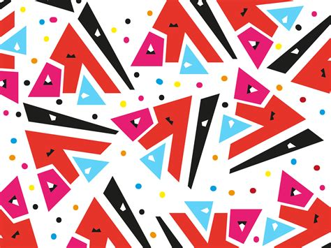 Memphis Style Backgrounds - Pattern, Red Templates - Free ...