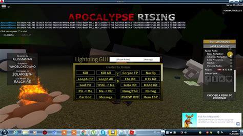 roblox apocalypse rising   hack script executor