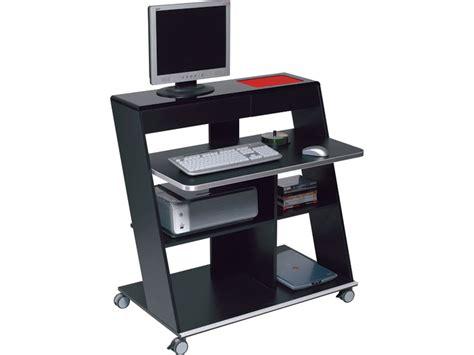 meuble informatique idesk coloris laqu 233 noir tous les