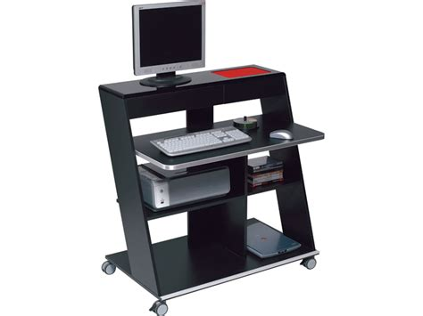 bureau ordinateur noir meuble de bureau noir laque