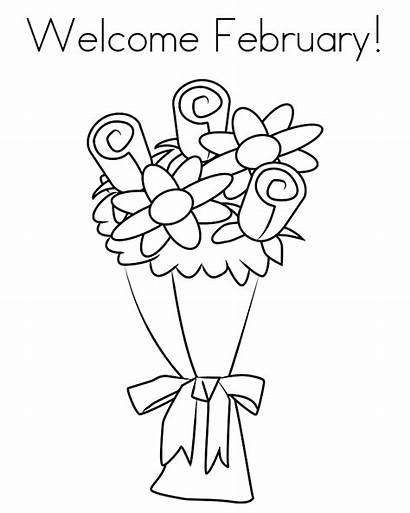 February Coloring Pages Printable Getcolorings Welcome Getdrawings