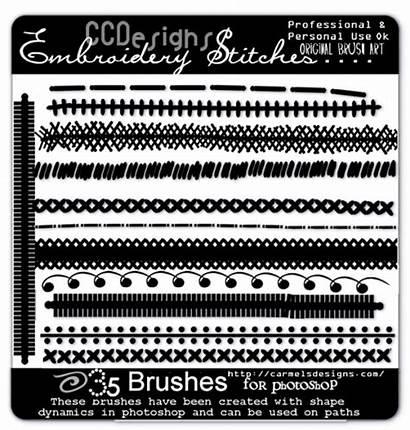 Photoshop Brushes Stitch Stitches Brush Embroidery Carmelsdesigns