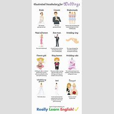 English Vocabulary For Weddings (illustrated