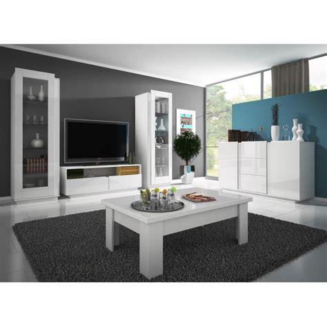 salon meuble blanc laque