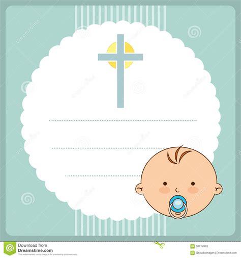 Baptism invitation design stock vector Illustration of