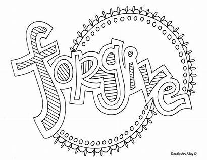 Coloring Word Pages Doodle Forgive Alley